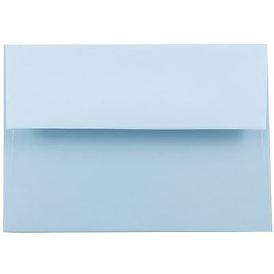 JAM Paper® A2 Invitation Envelopes, 4 3/8 x 5 3/4, Baby Blue, 25/pack (155624)