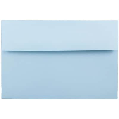 JAM Paper® A9 Invitation Envelopes, 5.75 x 8.75, Baby Blue, 25/pack (155699)