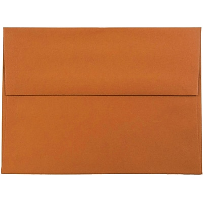 JAM Paper® A6 Invitation Envelopes, 4.75 x 6.5, Dark Orange, 50/pack (157457I)