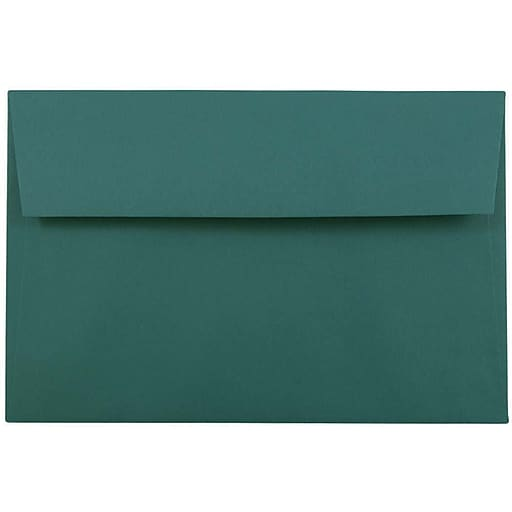 JAM Paper® A9 Invitation Envelopes, 5.75 x 8.75, Teal, Bulk 250/Box (157463H)