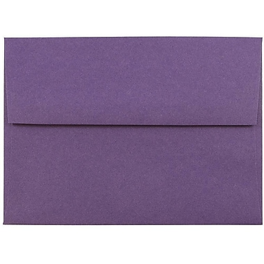 JAM Paper® A6 Invitation Envelopes, 4.75 x 6.5, Dark Purple, 25/pack (157465)