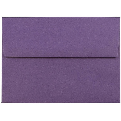 JAM Paper® A6 Invitation Envelopes, 4.75 x 6.5, Dark Purple, 250/box (157465H)