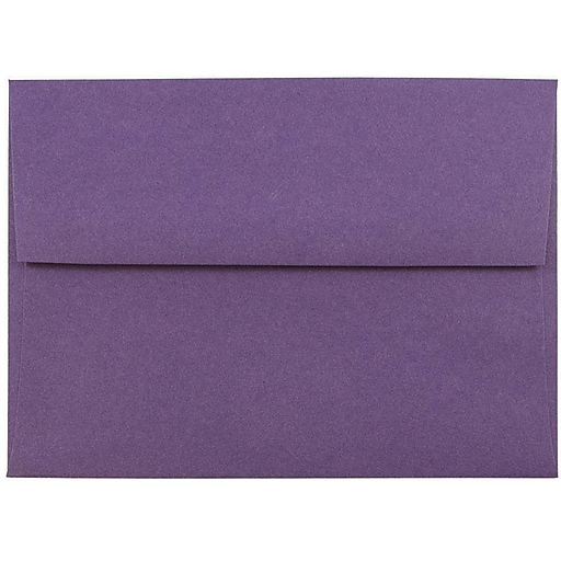 JAM Paper® A6 Invitation Envelopes, 4.75 x 6.5, Dark Purple, Bulk 1000/Carton (157465B)