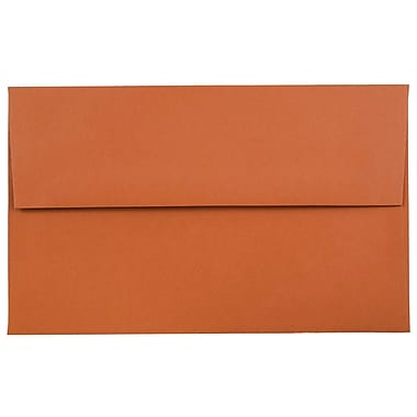 JAM Paper® A10 Invitation Envelopes, 6 x 9.5, Dark Orange, 25/pack (157467)