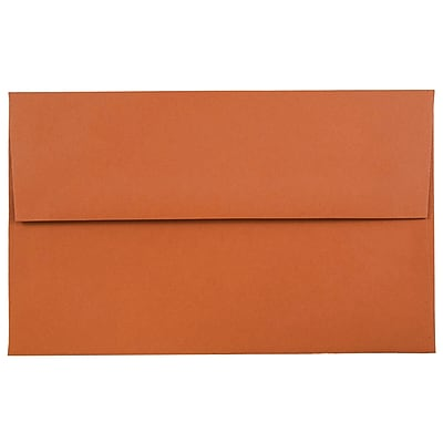 JAM Paper® A10 Invitation Envelopes, 6 x 9.5, Dark Orange, 1000/carton (157467B)
