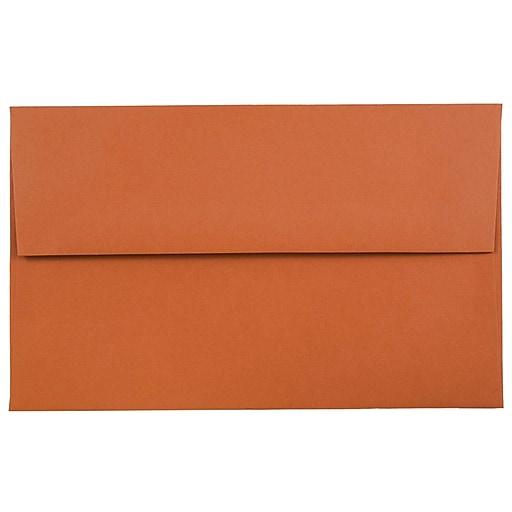 JAM Paper® A10 Invitation Envelopes, 6 x 9.5, Dark Orange, 50/Pack (157467I)