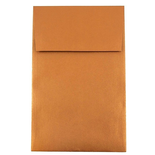 JAM Paper® A10 Policy Envelopes, 6 x 9.5, Stardream Metallic Copper, 1000/carton (187021B)