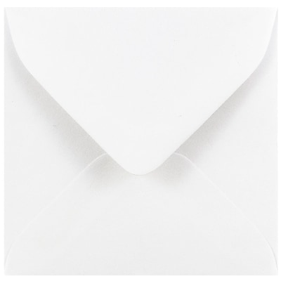 JAM Paper® 3.125 x 3.125 Mini Square Envelopes, White, 1000/carton (0201229B)