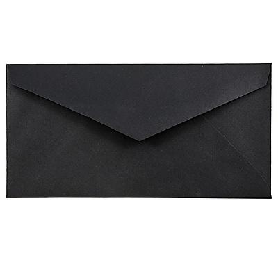 JAM Paper® Monarch Envelopes, 3 7/8 x 7 1/2, Black Linen Recycled , 50/pack (317572I)