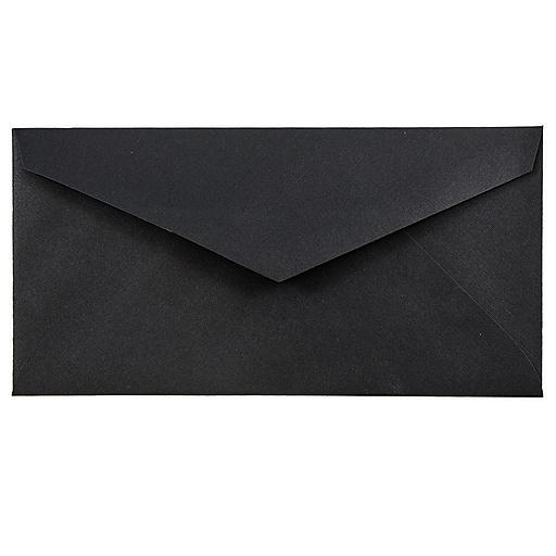 JAM Paper® Monarch Envelopes, 3.875 x 7.5, Black Linen, Bulk 500/Box (317572H)
