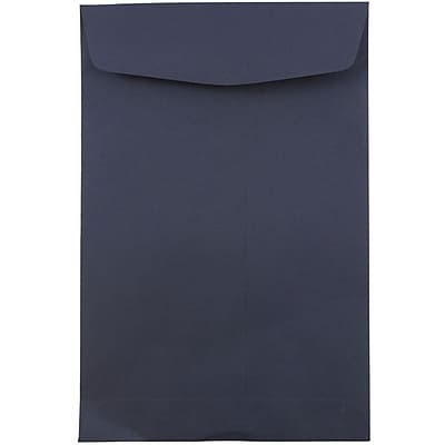 JAM Paper® 6 x 9 Open End Envelopes, Navy Blue, 1000/carton (01287030B)