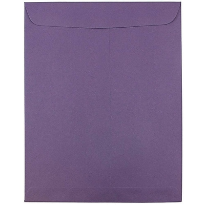 JAM Paper® 10 x 13 Open End Catalog Envelopes, Dark Purple, 25/pack (1287032)