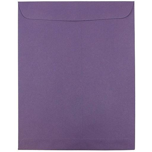 JAM Paper® 10 x 13 Open End Catalog Envelopes, Dark Purple, 25/Pack (1287032)