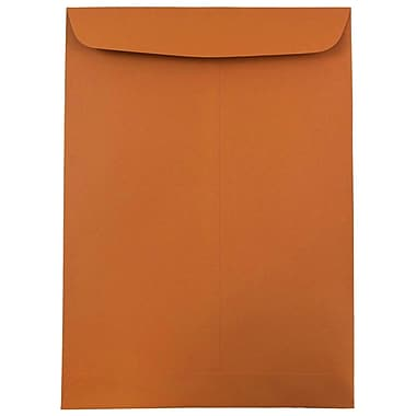 JAM Paper® 9 x 12 Open End Catalog Envelopes, Dark Orange, 100/pack (1287531)