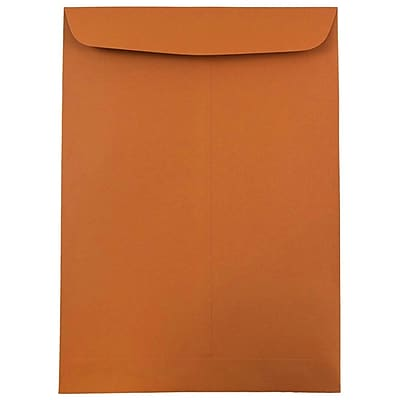 JAM Paper® 9 x 12 Open End Catalog Envelopes, Dark Orange, 10/pack (1287531B)