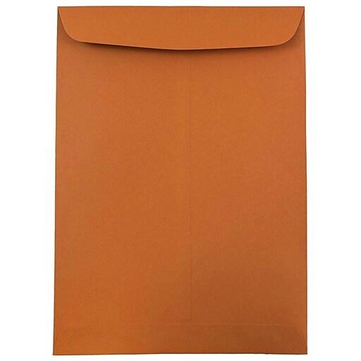 JAM Paper® 9 x 12 Open End Catalog Envelopes, Dark Orange, 100/Pack (1287531)
