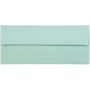 JAM Paper® #10 Business Envelopes, 4 1/8 x 9 1/2, Aqua Blue, 25/pack (1523976)