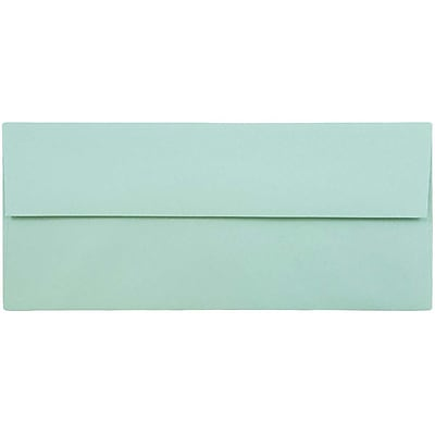 JAM Paper® #10 Business Envelopes, 4 1/8 x 9 1/2, Aqua Blue, 500/box (1523976H)