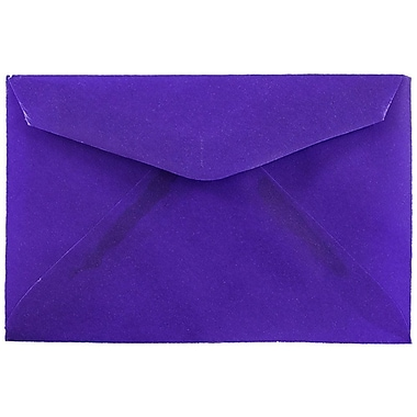JAM Paper® 3drug Mini Small Envelopes, 2 5/16 x 3 5/8, Purple Translucent Vellum, 100/pack (1591588A)