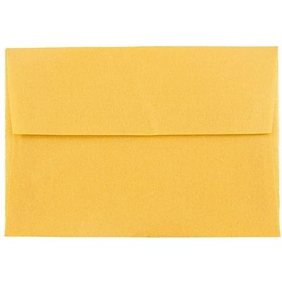 JAM Paper® 4bar A1 Envelopes, 3 5/8 x 5 1/8, Gold Translucent Vellum, 50/pack (1591606I)