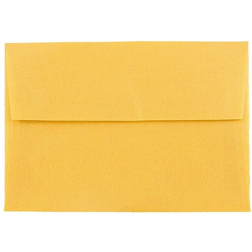JAM Paper® 4Bar A1 Translucent Vellum Invitation Envelopes, 3.625 x 5.125, Gold, 50/Pack (1591606I)