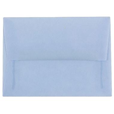 JAM Paper® A6 Invitation Envelopes, 4.75 x 6.5, Surf Blue Translucent Vellum, 50/pack (1591692I)