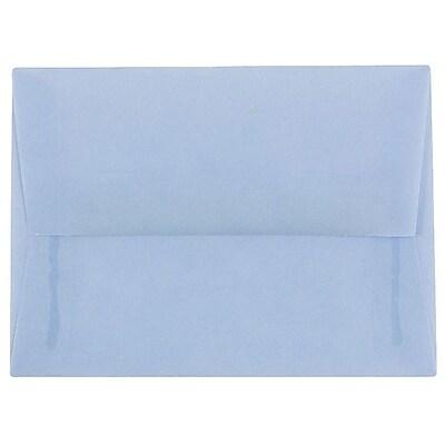 JAM Paper® A6 Invitation Envelopes, 4.75 x 6.5, Surf Blue Translucent Vellum, 250/box (1591692H)