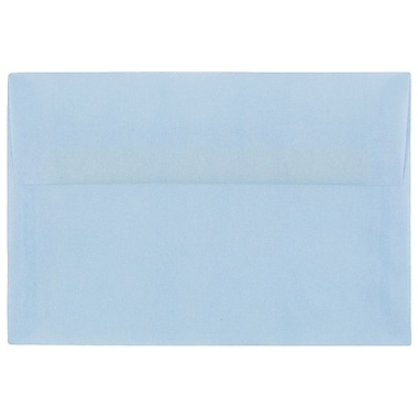 JAM Paper® A10 Invitation Envelopes, 6 x 9.5, Translucent Vellum Surf Blue, 250/box (1591792H)