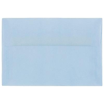 JAM Paper® A10 Invitation Envelopes, 6 x 9.5, Translucent Vellum Surf Blue, 50/pack (1591792I)