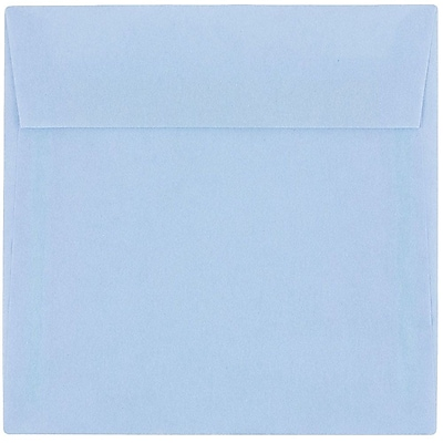 JAM Paper® 6 x 6 Square Envelopes, Surf Blue Translucent Vellum, 50/pack (1591925I)