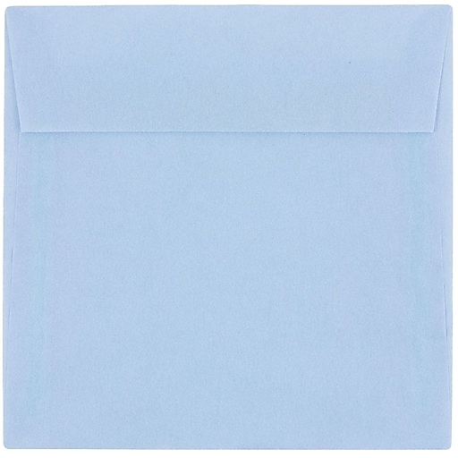 JAM Paper® 6 x 6 Square Translucent Vellum Invitation Envelopes, Surf Blue, 50/Pack (1591925I)