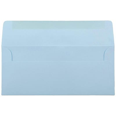 JAM Paper® #10 Business Envelopes, 4 1/8 x 9 1/2, Baby Blue, 500/box (2155778H)