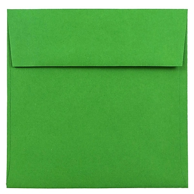 JAM Paper® 6 x 6 Square Envelopes, Brite Hue Green Recycled, 250/box (2792267H)