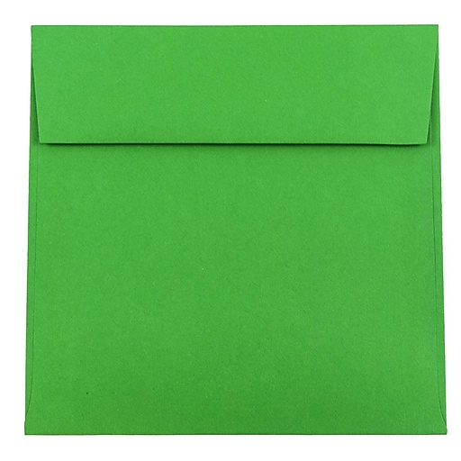 JAM Paper® 6.5 x 6.5 Square Colored Invitation Envelopes, Green Recycled, 50/Pack (2792279I)