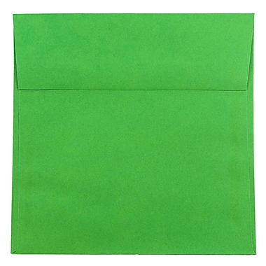 JAM Paper® 8.5 x 8.5 Square Envelopes, Brite Hue Green Recycled, 25/pack (2792295)