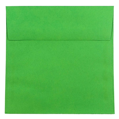 JAM Paper® 8.5 x 8.5 Square Envelopes, Brite Hue Green Recycled, 1000/carton (2792295B)