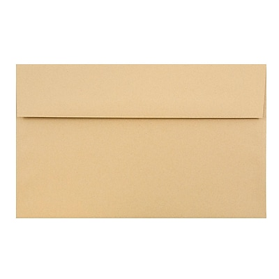 JAM Paper® A10 Invitation Envelopes, 6 x 9.5, Ginger Brown Recycled, 50/pack (2831489I)