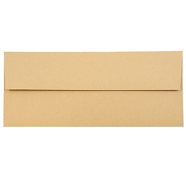 JAM Paper® #10 Business Envelopes, 4 1/8 x 9 1/2, Ginger Brown Recycled, 50/pack (2831513I)