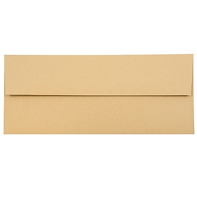 JAM Paper® #10 Business Envelopes, 4 1/8 x 9 1/2, Ginger Brown Recycled, 25/pack (2831513)