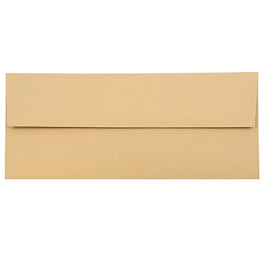 JAM Paper® #10 Passport Business Envelopes, 4.125 x 9.5, Ginger Brown Recycled, 25/Pack (2831513)
