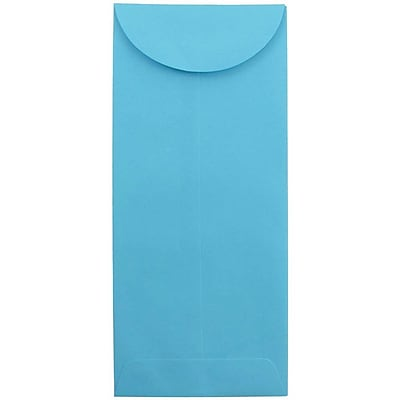 JAM Paper® #11 Policy Envelopes, 4 1/2 x 10 3/8, Brite Hue Blue, 1000/carton (3156390B)