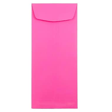 JAM Paper® #11 Policy Envelopes, 4 1/2 x 10 3/8, Brite Hue Ultra Fuchsia Pink, 25/pack (3156391)