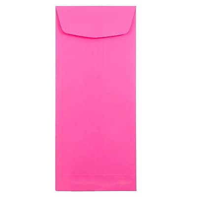 JAM Paper® #11 Policy Envelopes, 4 1/2 x 10 3/8, Brite Hue Ultra Fuchsia Pink, 50/pack (3156391I)