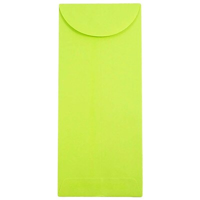 JAM Paper® #11 Policy Envelopes, 4 1/2 x 10 3/8, Brite Hue Lime Green, 50/pack (3156392I)