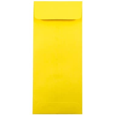 JAM Paper® #10 Policy Envelopes, 4 1/8 x 9 1/2, Brite Hue Yellow Recycled, 25/pack (15877)
