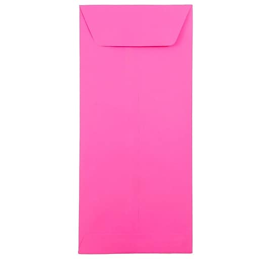JAM Paper® #12 Policy Business Colored Envelopes, 4.75 x 11, Ultra Fuchsia Pink, Bulk 500/Box (3156396H)