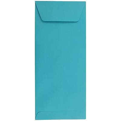 JAM Paper® #12 Policy Envelopes, 4.75 x 11, Brite Hue Sea Blue Recycled, 500/box (3156397H)