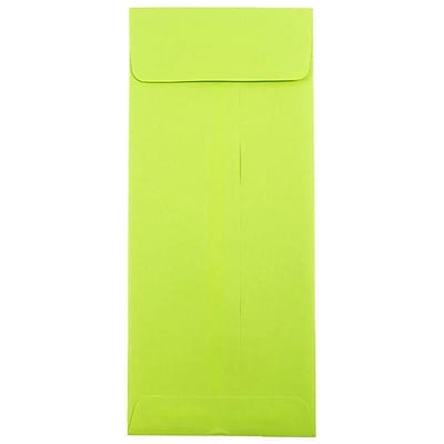 JAM Paper® #12 Policy Envelopes, 4.75 x 11, Brite Hue Lime Green, 50/pack (3156398I)