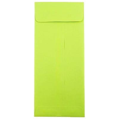 JAM Paper® #12 Policy Envelopes, 4.75 x 11, Brite Hue Lime Green, 1000/carton (3156398B)