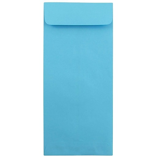 JAM Paper® #12 Policy Business Colored Envelopes, 4.75 x 11, Blue Recycled, Bulk 500/Box (3156401H)